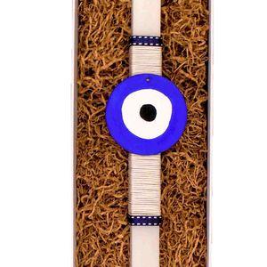 greek easter candle, λαμπάδα, Πάσχα, νονός, νονά, easter candle , evil eye, μάτι