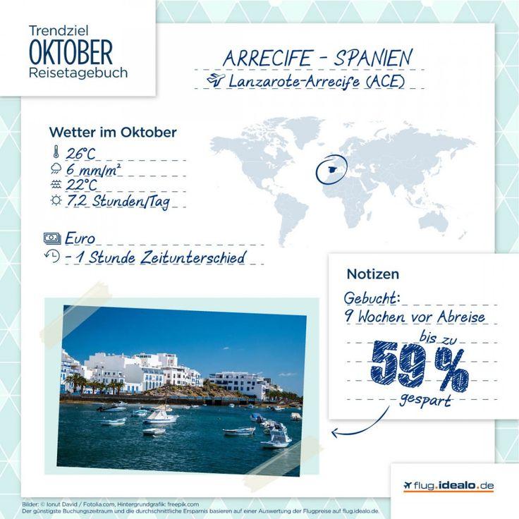Trendreiseziel #Arrecife auf #Lanzarote. Günstige Flüge finden: http://flug.idealo.de/
