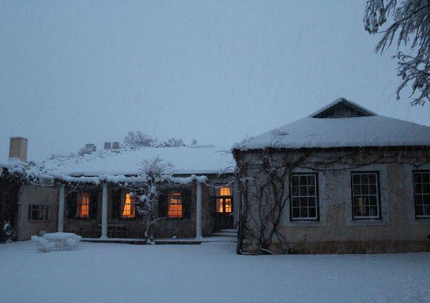 Pragtige sneeu in die Karoo.