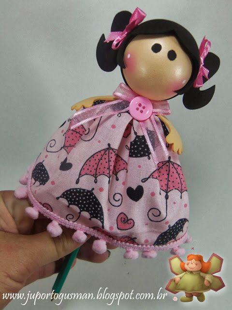 CRIATIVIDADE EVA: Ponteiras em EVA 3D - Gorjusshttp://juportogusman.blogspot.com.br/2013/11/ponteiras-em-eva-3d-gorjuss.html