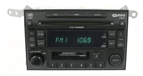 2003-2004 Nissan Pathfinder AM FM Radio Cassette 6 CD Player PN-2543N Face CR200