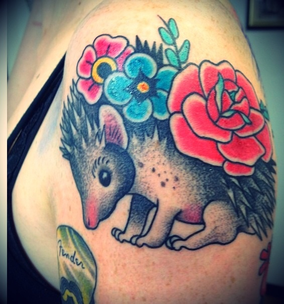 my ♥ hedgehog tattoo by Rino Valente -Italy- #tattoo #hedgehog ...