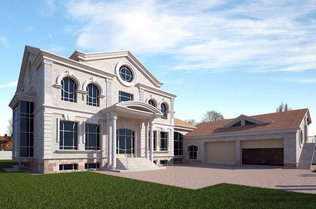 Двухэтажные дома фото фасад