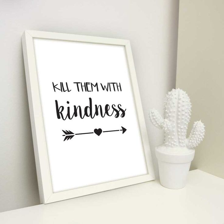 Poster - Kill them with kindness