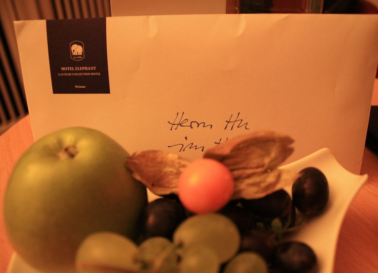 A welcoming note from the Hotel Elephant, Weimar