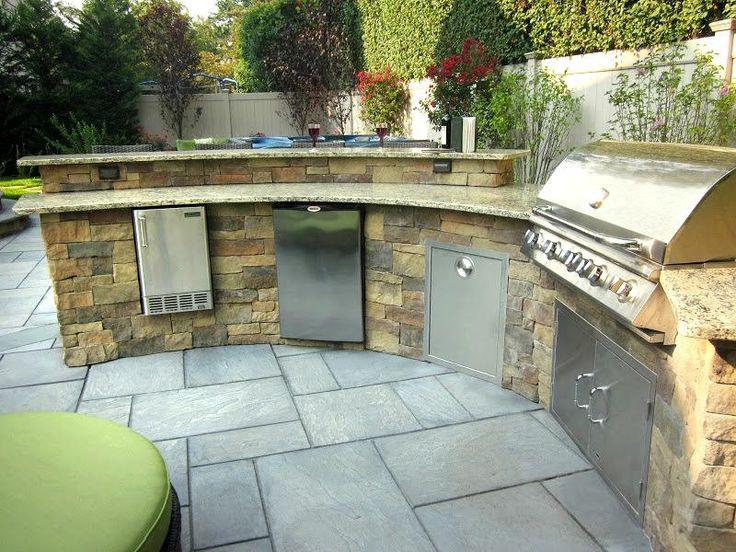 Custom Bi Level Radial Outdoor Kitchen Bar http greenislanddesign com12 best Outdoor Kitchens   Bars images on Pinterest   Outdoor  . Outdoor Kitchen Bar Designs. Home Design Ideas
