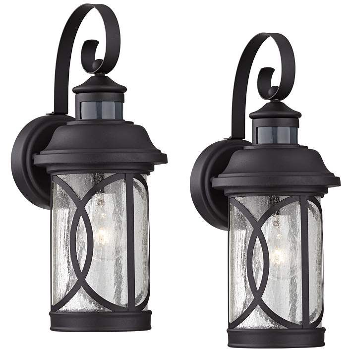 Outdoor Wall Light Fixtures, Imre 2 Light Outdoor Sconce With Motion Sensor