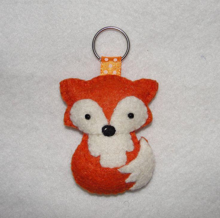 Wool Felt Fox Keychain, Fox Keychain, Plush Fox Keyring, Keyring, Key Holder, Gift Bag, Bag Charm, Birthday, Decor, Ornament, Felt Animal by NitaFeltThings on Etsy
