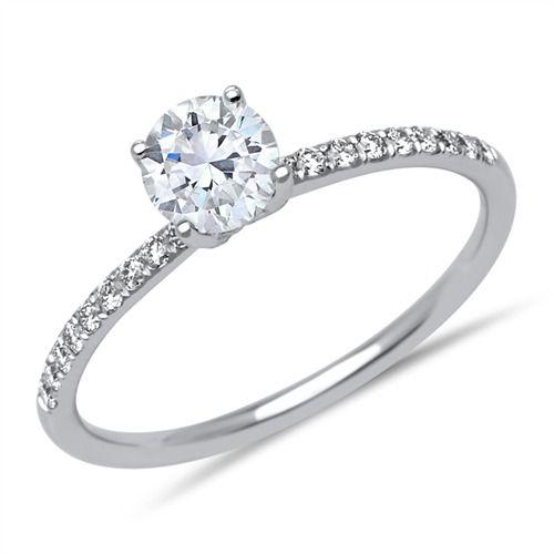 Unique Diamantring mit 0,78 ct gesamt 750 Weißgold DR0054SL