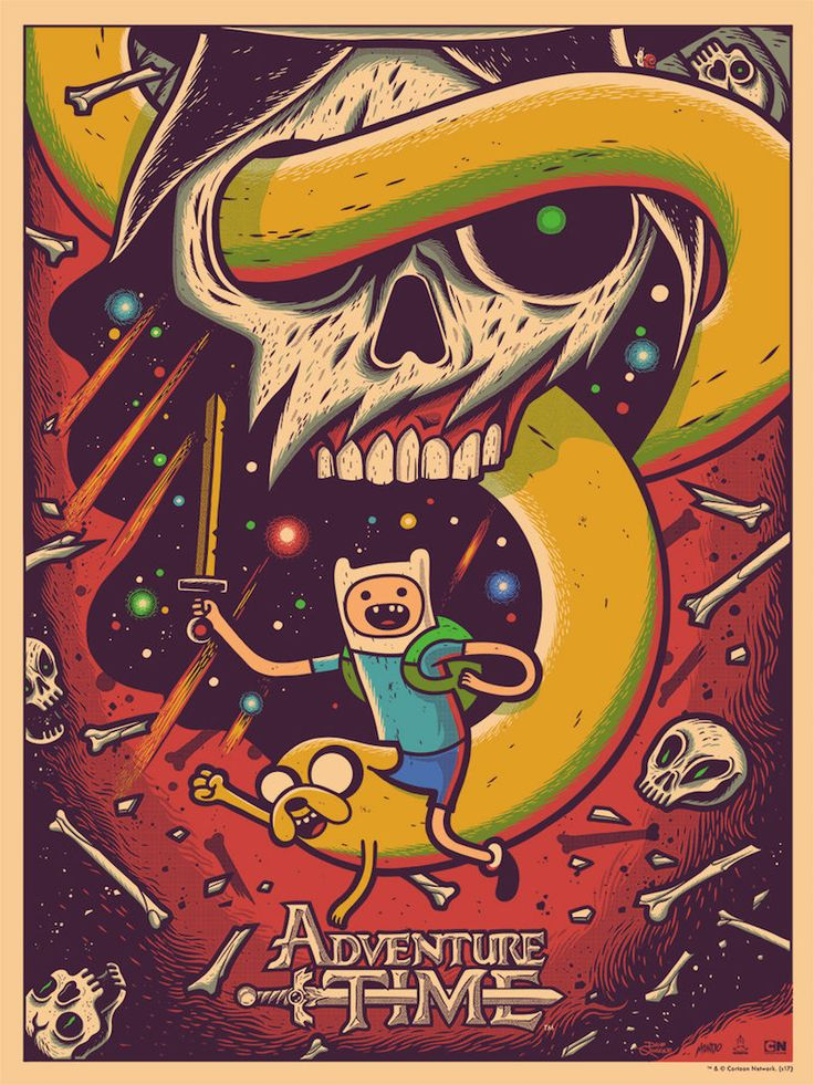 OMG Posters! » Archive Adventure Time Posters by Dave Quiggle & George Caltsoudas from Mondo (Onsale Info)