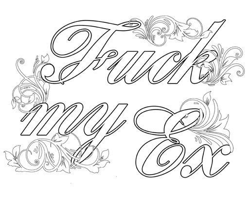Coloring Curse Word Coloring Pages