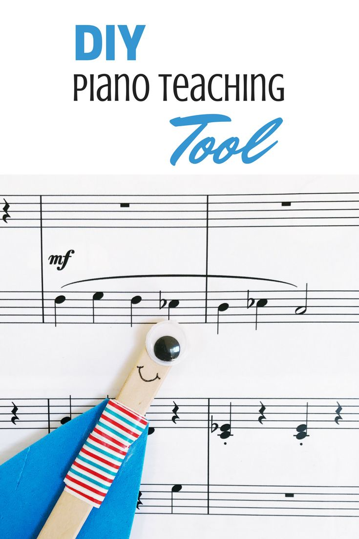 Get your piano students excited about score study and theory with this DIY tool #PianoLessons #PianoTeaching