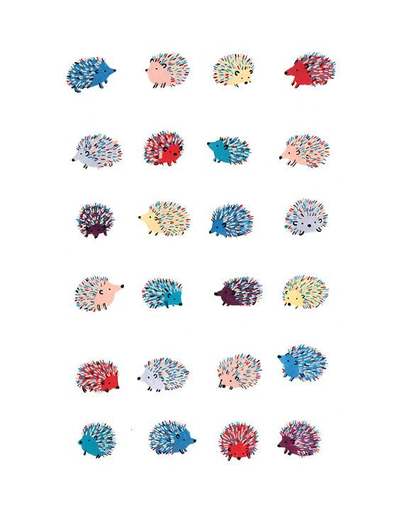Happy Hedgehogs Print by CactusClub on Etsy, $20.00