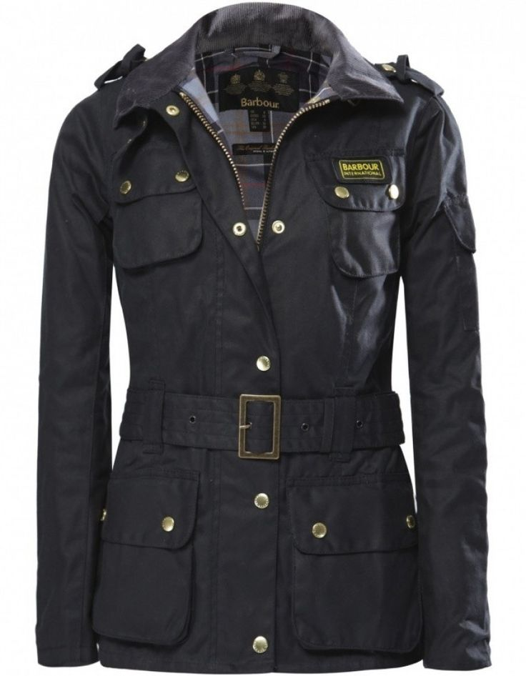Women's Barbour International Waxed Jacket   JULES B