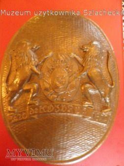 Duże zdjęcie Herb Jastrzębiec-plakieta brąz