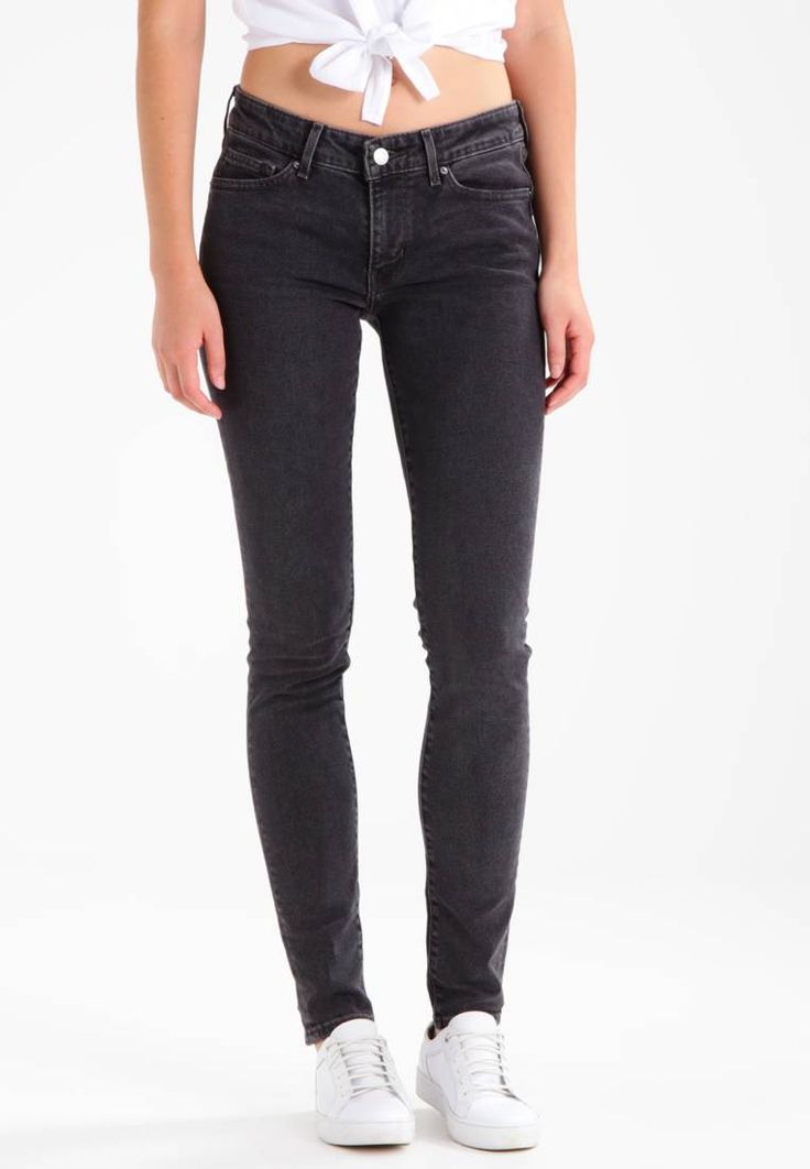 """Levi's®. 711 SKINNY - Jeans Skinny Fit - black dove. Our model's height:Our model is 69.5 """" tall and is wearing size 27x32. Fit:skinny. Outer fabric material:90% cotton, 8% Elastomultiester, 2% spandex. Care instructions:machine wash at 30°C. inner l..."""