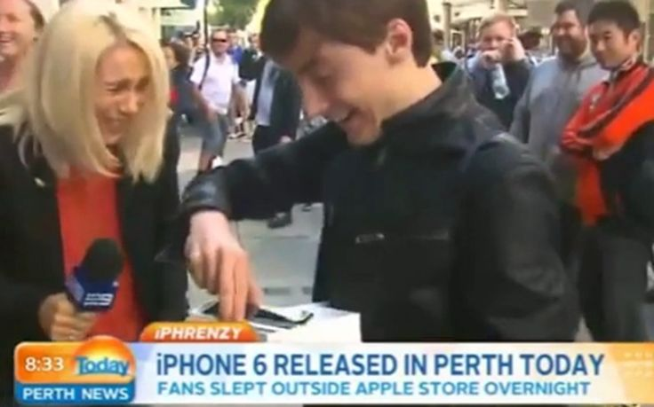 """The first idiot to acquire Apple's latest piece of sh*t iPhone was an """"Crapple"""" fanboy here in Australia - then, in his stupefied and excited state (no doubt p*ssing himself like an excited puppy) he proceeded to drop it on live TV! Brilliant! This cheered me up no end last week - I really needed it! And since the two new crap iPhone models will be available via mobile network service providers (for $0 on various plans) in due course, why buy an iPhone?! What a typical Apple """"genius""""!"""