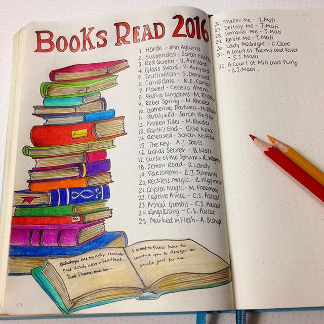 My goal this year is to read at least 80 books! Of course I have to note them…