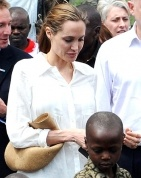Angelina Jolie & UK Foreign Secretary William Hague @ Dem Rep Congo-warzone rape  3/25/13