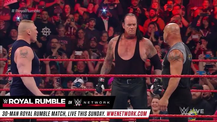 As Brock Lesnar and Goldberg prepared to explode on WWE Raw, the bell tolled ... and The Undertaker appeared!   Which one of these three greats is likely to be the last Superstar standing this Sunday at WWE Royal Rumble, only on WWE Network?