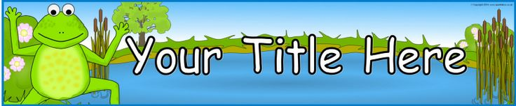 Frog and pond editable banner template (SB10389) - SparkleBox