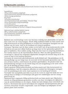 Mangerie?!: Zelfgemaakte snickers