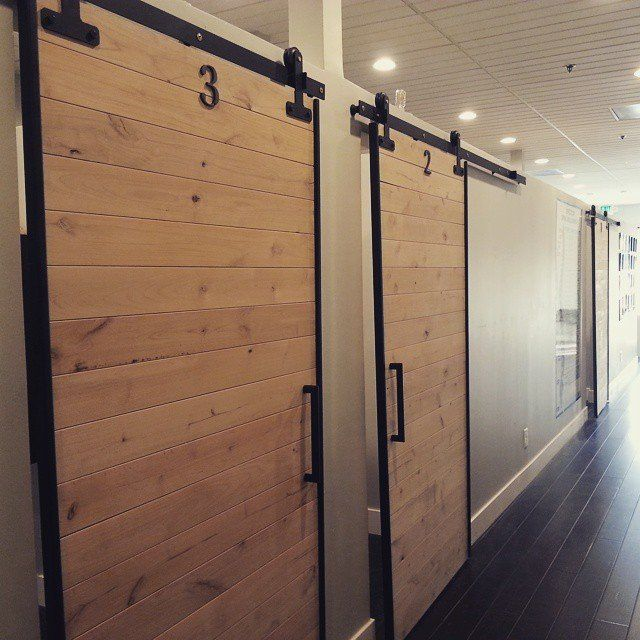 Intero Chiropractic - Pleasanton, CA, United States. barn doors for the adjusting rooms :)