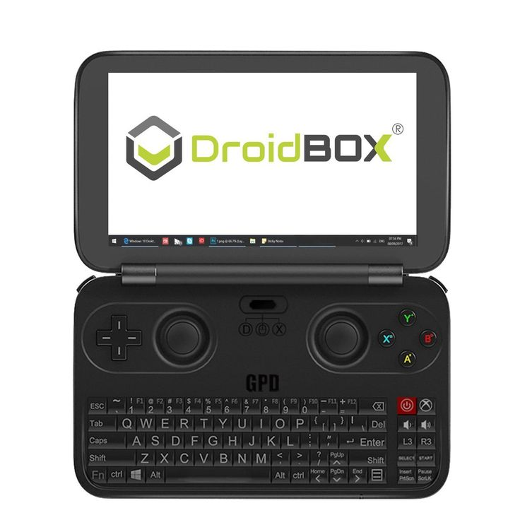 "GPD WIN by DroidBOX June 5 Update Aluminum Top Cover Version X7-Z8750 Windows 10 Powered Gaming Portable Console 5.5"" OGS LCD Display, Up to 2.56GHz CPU, 4GB RAM, 64GB ROM"
