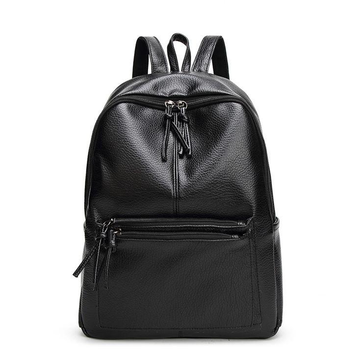 $22.59 (Buy here: https://alitems.com/g/1e8d114494ebda23ff8b16525dc3e8/?i=5&ulp=https%3A%2F%2Fwww.aliexpress.com%2Fitem%2FBackpack-Women-High-Quality-Backpacks-for-Teenage-Girls-2016-Fashion-Leather-Backpack-for-Travel-Mochilas-Mujer%2F32711285823.html ) Backpack Women High Quality Backpacks for Teenage Girls 2016 Fashion Leather Backpack for Travel Mochilas Mujer Women Backpack for just $22.59