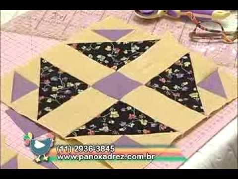 Tia Lili Patchwork: Bloco Abacaxi (Pineapple Block) - com projeto grátis! - YouTube