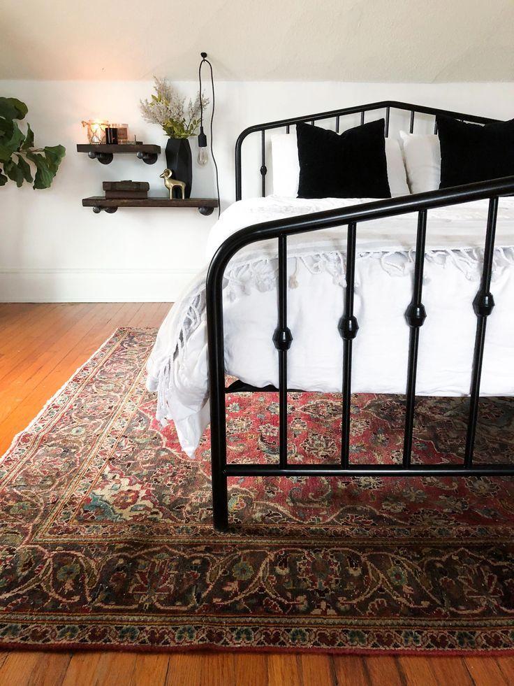 Novogratz Bushwick Platform Bed Black Bed Frame Vintage Bed