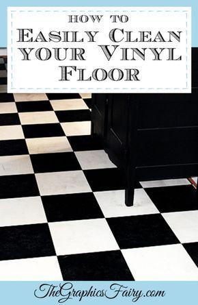 My Secret Tip  How To Clean Vinyl Floors   Easily