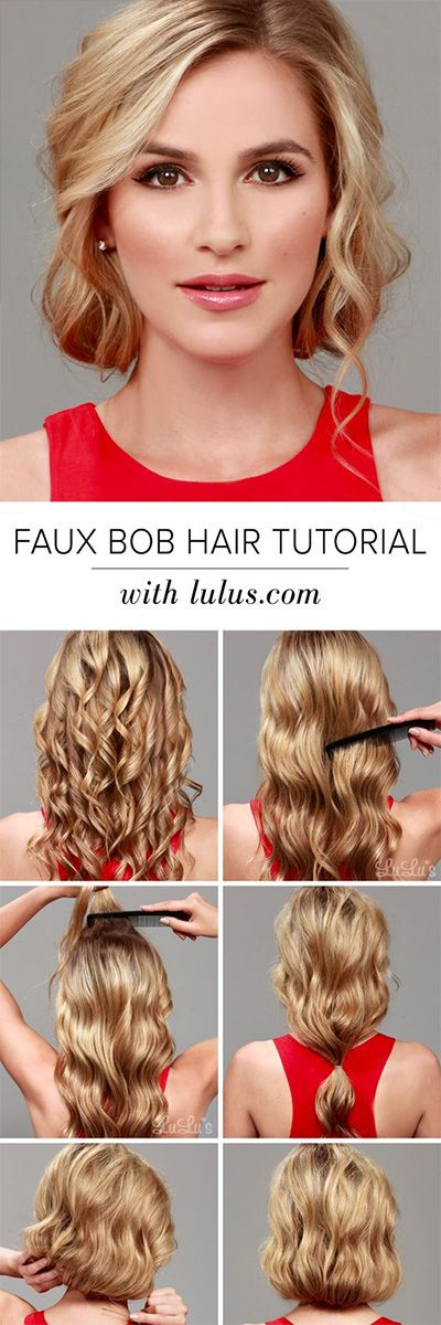 Superb 1000 Ideas About Faux Bob Tutorial On Pinterest Gatsby Hair Hairstyles For Men Maxibearus