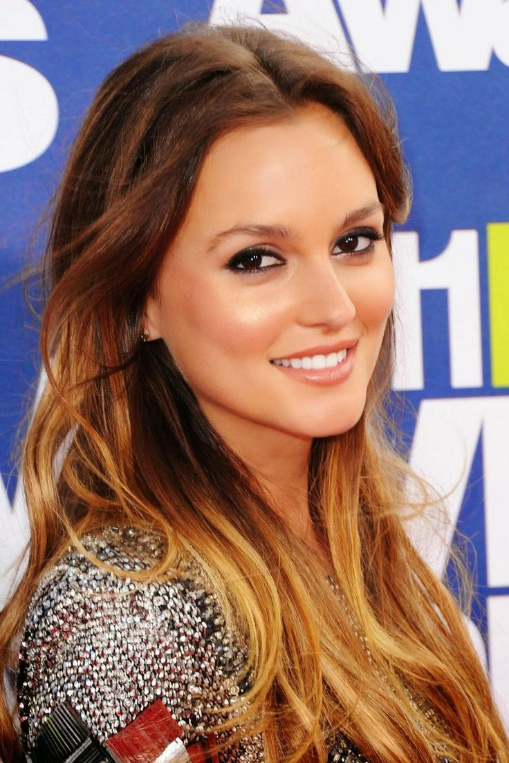 Porm celebrity hairstyles - Really Wanna Try A Not So Extreme Version Of Ombre Hair Leighton Meester Pulls It Off