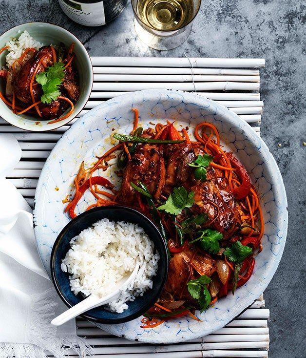 Lemongrass chicken with rice - Gourmet Traveller