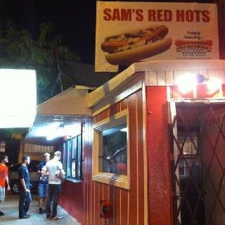Sam's Hot Dog stand, Armitage Avenue near Western, Chicago