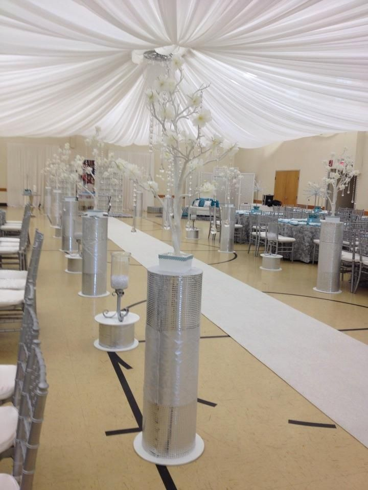 Tiffany Blue & Silver Wedding Decor - Simone Party Decor ...