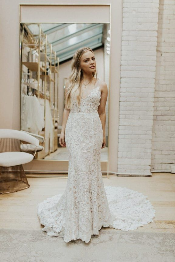Shop Made With Love Wedding Gowns At Lovely Bride Wedding Dresses Embellished Wedding Dress Sheer Wedding Dress