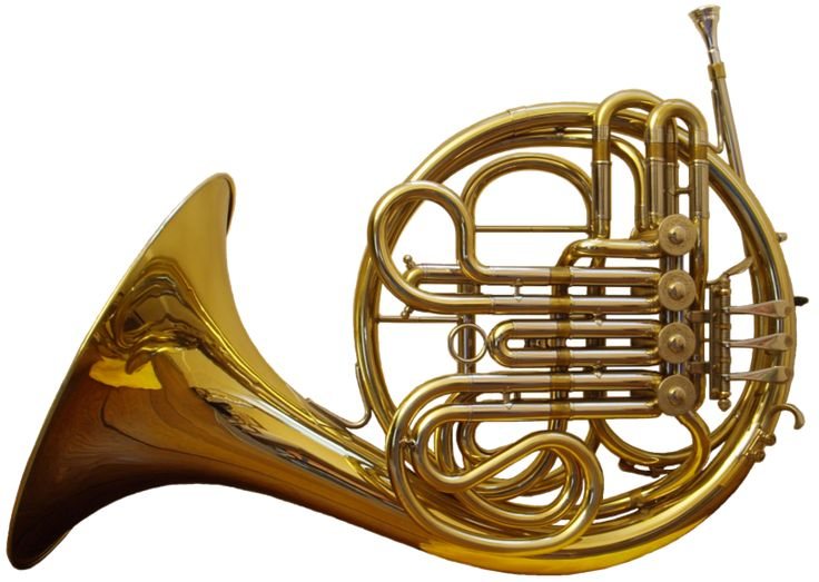 French Horn Besson - The horn (also known as the corno and French horn) is a brass instrument made of more than 20 feet (6.1 m) of tubing wrapped into a coil with a flared bell.
