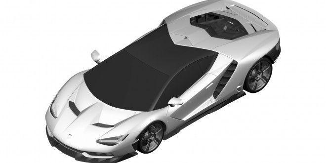 Lamborghini Centenario LP770-4 Revealed Through Patent Images