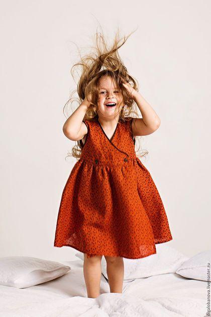 """Dress for girl / Одежда для девочек, ручной работы. Ярмарка Мастеров - ручная работа. Купить Платье """"Винтажная роза"""". Handmade. Рыжий, на каждый день"""