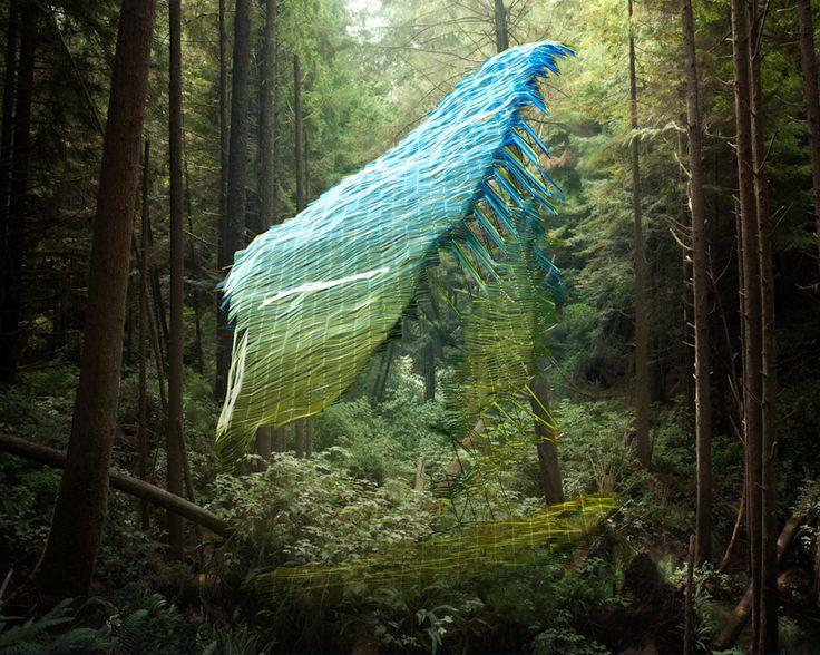 Mark Dorf reveals digital impositions on natural landscapes