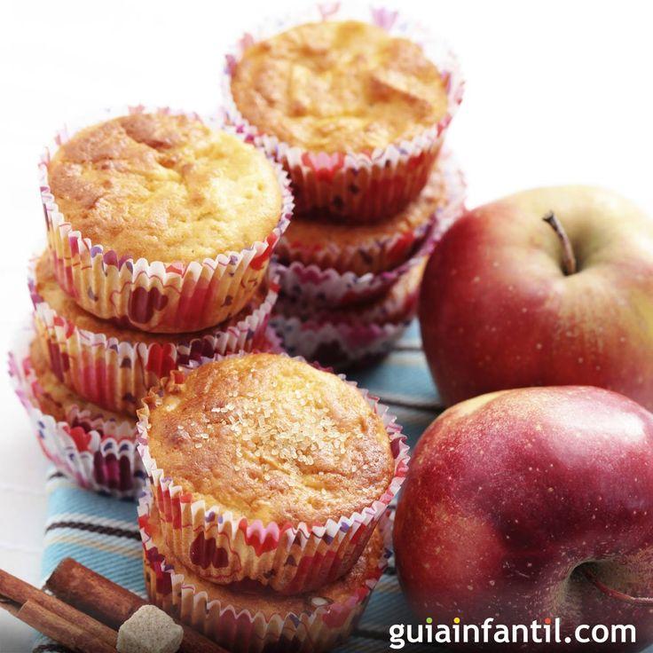 Magdalenas de manzana y canela