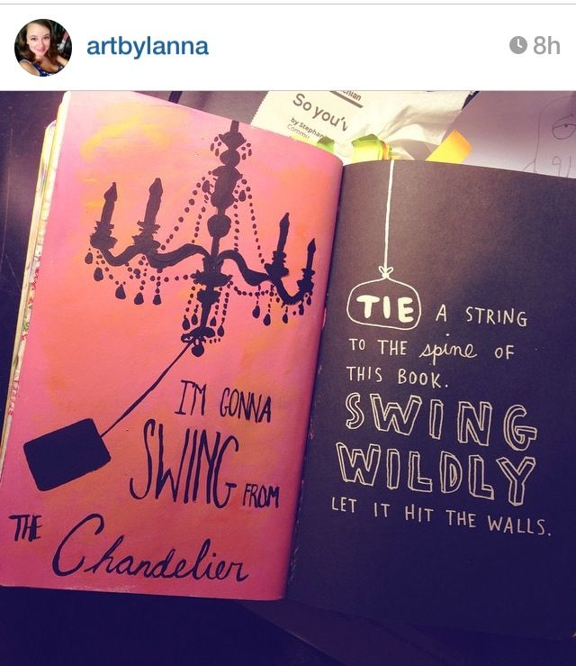 """I thought this was a really cool idea Based off of Sia's song, """"Chandelier""""✨…"""