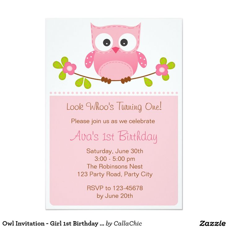 213 best girls birthday party invitations images on pinterest owl invitation girl 1st birthday baby shower stopboris Images