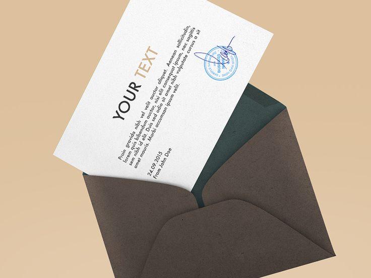 Best 20 envelope mockup ideas on pinterest for Envelope psd