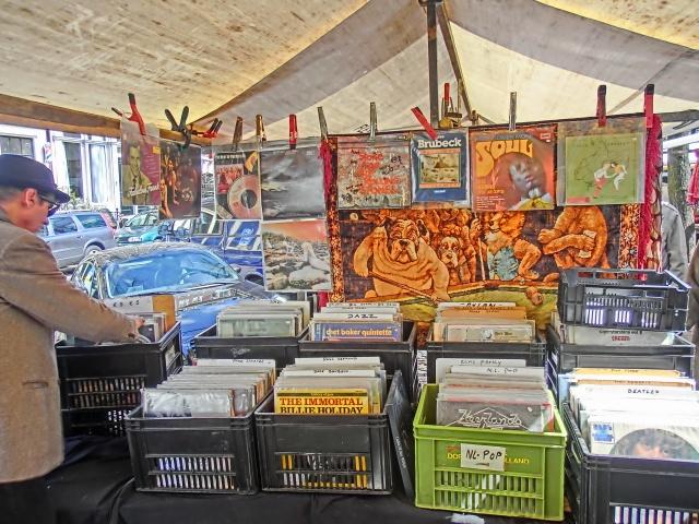 Vinyl in de marge op de markt