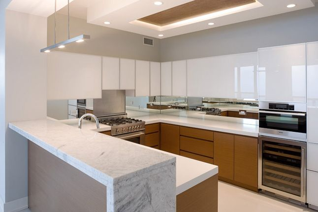 Contemporary condo kitchen deb reinhart interior design group sleek modern minimal two tone - New ideas contemporary kitchen design ...