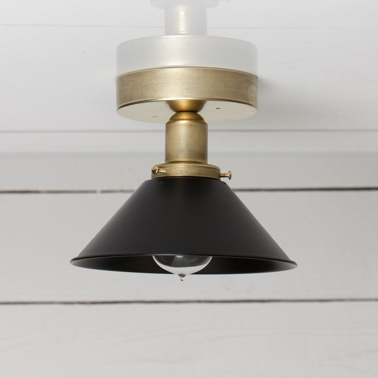 Black and Brass Shade Ceiling Light 69