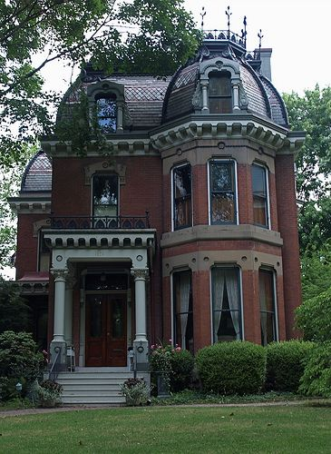Turn of the 20th Century Mansion, Quincy, Illinois.: Dreams Houses, Illinois, Brick, Beautiful, Old Victorian Home, Old Houses, Wrought Irons, Mansions, Victorian Houses